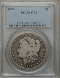 Morgan Dollars: , 1894 $1 Good 4 PCGS. PCGS Population (59/4573). NGC Census: (61/3244). Mintage: 110,972. Numismedia Wsl. Price for problem ...