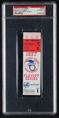 Baseball Collectibles:Tickets, 1977 A.L.C.S. Game 1 Ticket Stub, PSA Authentic....