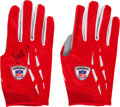 Football Collectibles:Others, 2006 Larry Fitzgerald Game Worn Cleats & Receiver Gloves. ...