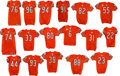 Football Collectibles:Uniforms, 2009 Chicago Bears Game Worn, Unwashed Jerseys Lot of 17 - Each Worn in 11-1 Victory Over Cleveland. ...