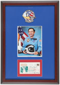 Miscellaneous Collectibles:General, NASA Astronauts Multi Signed First Day Cover Display....