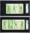 Boxing Cards:General, 1920's W-Unc (as Exhibits) Uncut Strip Cards Pair (2). ...
