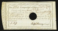 Colonial Notes:Connecticut, Connecticut Interest Certificate February 9, 1790 £1 8s 9d Very Fine, HOC.. ...