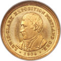 Commemorative Gold, 1904 G$1 Lewis and Clark MS67 NGC. CAC....
