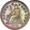 Patterns, 1870 25C Standard Silver Quarter Dollar, Judd-878, Pollock-975, R.7, PR65 Red and Brown PCGS. CAC....