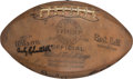 Football Collectibles:Balls, 1956 New York Giants Team Signed NFL Championship Football - Obtained from Charlie Conerly Collection!...