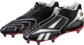 Football Collectibles:Others, 2008 (2007 Season) Eli Manning Game Worn Cleats Used in NFC Championship Game vs. Green Bay. ...