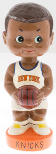 Basketball Collectibles:Others, 1960's New York Knicks Nodder Bank....