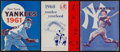 Baseball Collectibles:Others, 1960-61 New York Yankees Yearbooks Lot of 3....