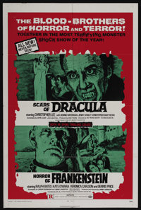 """Scars of Dracula/Horror of Frankenstein Combo (American Continental Films Inc., 1971). One Sheet (27"""" X 41"""")..."""