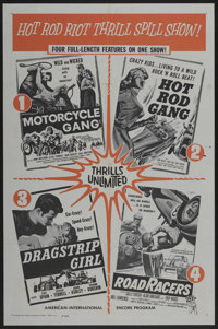 """Hot Rod Riot Thrill Spill Show (American International, R-1961). One Sheet (27"""" X 41""""). Action"""