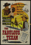 """Movie Posters:Western, The Fabulous Texan (Republic, 1947). One Sheet (27"""" X 41""""). Western. ..."""