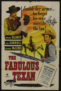 "The Fabulous Texan (Republic, 1947). One Sheet (27"" X 41""). Western"
