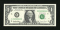 Error Notes:Ink Smears, Fr. 1921-E $1 1995 Federal Reserve Note. Crisp Uncirculated.. ...
