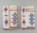 American Indian Art:Beadwork and Quillwork, A PAIR OF SIOUX WOMAN'S BEADED HIDE LEGGINGS... (Total: 2 Items)