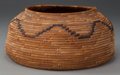 American Indian Art:Baskets, A MISSION COILED BOWL...
