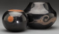 American Indian Art:Pottery, TWO SAN ILDEFONSO BLACKWARE JARS. Barbara Gonzales (Stahn-Moo-Whe)and Wan Povi... (Total: 2 Items)