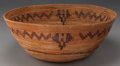 American Indian Art:Baskets, A CALIFORNIA COILED BOWL. ...
