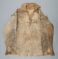 American Indian Art:War Shirts/Garments, A PLAINS FRINGED HIDE SCOUT SHIRT...