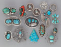American Indian Art:Jewelry and Silverwork, SIXTEEN SOUTHWEST JEWELRY ITEMS... (Total: 16 Items)