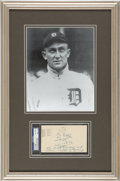 Autographs:Post Cards, 1956 Ty Cobb Signed Government Postcard, PSA/DNA NM-MT 8....