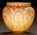 Art Glass:Other , THOMAS WEBB CASED OVERLAY GLASS TAPESTRY VASE. Circa 1900.. Ht. 5-1/8 in.. ...