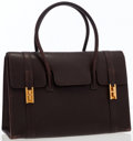 Luxury Accessories:Bags, Hermes 30cm Marron Fonce Buffalo Leather Drag Bag with GoldHardware. ...