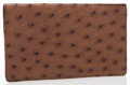 Luxury Accessories:Accessories, Louis Vuitton Brown Ostrich Simple Checkbook Cover. ...