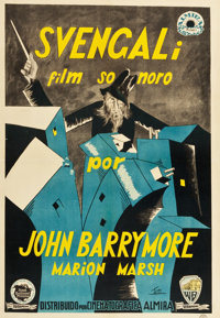 "Svengali (Warner Brothers, 1931). Spanish One Sheet (27"" X 39"")"