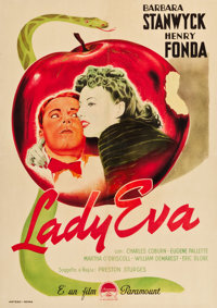 "The Lady Eve (Paramount, 1945). First Post War Italian Foglio (27.25"" X 38.5"")"