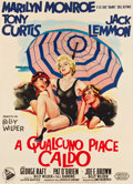 "Movie Posters:Comedy, Some Like It Hot (United Artists, 1959). Italian 2 - Foglio (39.5""X 54.5"").. ..."