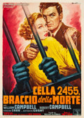 "Movie Posters:Crime, Cell 2455 Death Row (Columbia, 1955). Italian 2 - Foglio (39"" X55"").. ..."