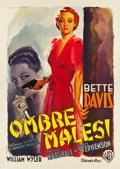 "Movie Posters:Film Noir, The Letter (Warner Brothers, 1946). Post-War Italian 4 - Foglio (54.5"" X 78"").. ..."