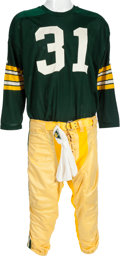 Football Collectibles:Uniforms, Circa 1970 Perry Williams Game Worn Green Bay Packers Durene Jersey & Pants. ...