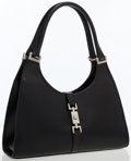 Luxury Accessories:Bags, Gucci Black Leather Bardot Bag. ...