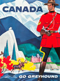"""Movie Posters:Miscellaneous, Greyhound Bus Travel Poster (1960s). Full-Bleed Poster (28"""" X 38"""")""""Canada."""". ..."""