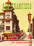 "Movie Posters:Miscellaneous, Greyhound Bus Travel Poster (1960s). Full-Bleed Poster (28"" X 38"")""San Francisco."". ..."