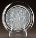 Art Glass:Lalique, LALIQUE CLEAR AND FROSTED GLASS COTE D'OR PLATTER. Post1945. Engraved Lalique, France. Di. 15-3/4 in.. ...