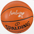 Basketball Collectibles:Balls, Bill Russell Signed Basketball and Oversized Photograph....