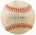 Baseball Collectibles:Balls, 1980's New York Yankees Multi Signed Baseball With Mantle & DiMaggio. ...