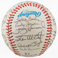 Autographs:Baseballs, 1983 Oakland A's Team Signed Baseball....