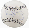 Autographs:Baseballs, 2008 Doc Gooden, Joba Chamberlain & Darryl Strawberry MultiSigned Baseball....