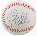 Autographs:Baseballs, 2000's Pele Single Signed Baseball....