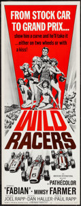 "Movie Posters:Sports, Wild Racers (American International, 1968). Insert (14"" X 36""). Sports.. ..."