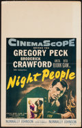 "Movie Posters:Adventure, Night People (20th Century Fox, 1954). Window Card (14"" X 22"").Adventure.. ..."