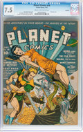 Golden Age (1938-1955):Science Fiction, Planet Comics #18 Rockford pedigree (Fiction House, 1942) CGC VF-7.5 Cream to off-white pages....