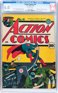 Action Comics #44 (DC, 1942) CGC FN 6.0 Off-white pages