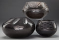 American Indian Art:Pottery, THREE SOUTHWEST BLACKWARE JARS... (Total: 3 Items)