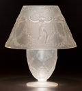 Art Glass:Lalique, R. LALIQUE CLEAR AND FROSTED GLASS SIX DANSEUSES LAMP. Circa1931. Stenciled R. LALIQUE to base. M p. 625,... (Total:2 Items)
