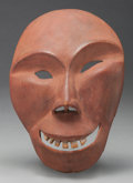 American Indian Art:Wood Sculpture, AN ALASKAN ESKIMO CARVED WOOD MASK. Probably King Island. 19thcentury...